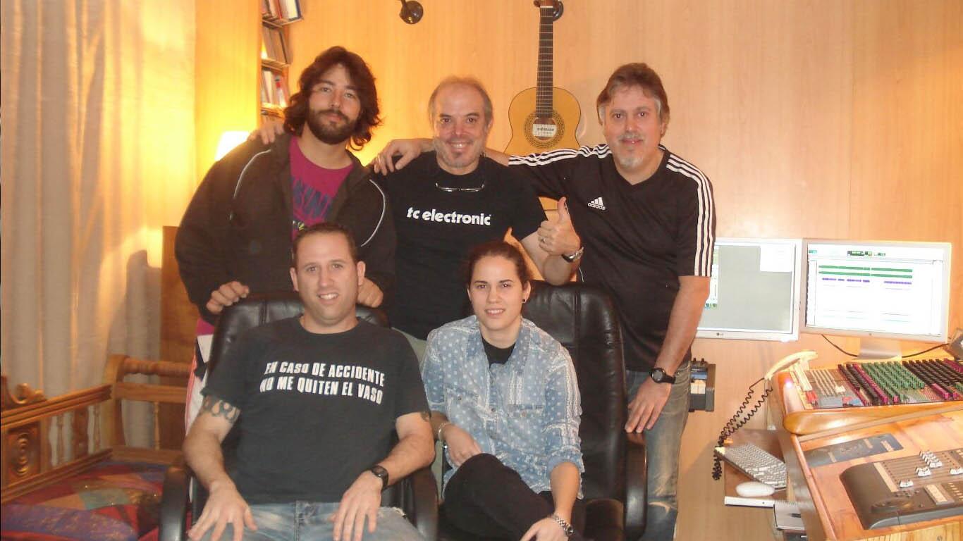 Grabación del disco de Incendio Rock. Estudio Goya